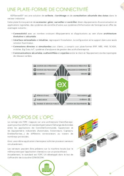 KEPServerEX - Suite Logicielle de Communication OPC