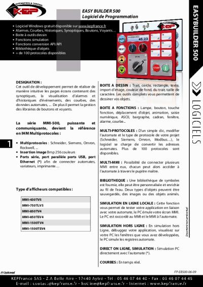 logiciel de programmation easybuilder 500. Black Bedroom Furniture Sets. Home Design Ideas